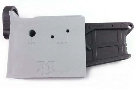 AR 15 80% Polymer GEN2 Lower Receiver with FREE machining jig - Black