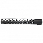 AR10 Slim Keymod Free Float Clamp-On Style Hand Guard W/Detachable Rails/15