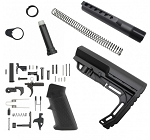 Ar-15 Lightweight Polymer Stock with Buffer Tube Kit and Standard Lower Parts kit