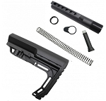 Ar-15 Lightweight Polymer Stock with 6 Position Mil-Spec Carbine Buffer Tube kit