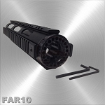 AR-15 Free Float Quad Rail Handguard Mid Length 10