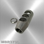 .223/ 556 Compact Stainless Steel Muzzle Brake 1/2x28