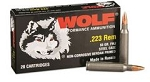 WOLF .223 Remington Rifle Ammo 55 Grain