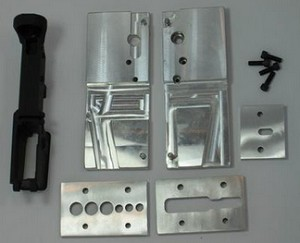 AR15 80% Lower receiver Black Anodized and Jig kit combination pack