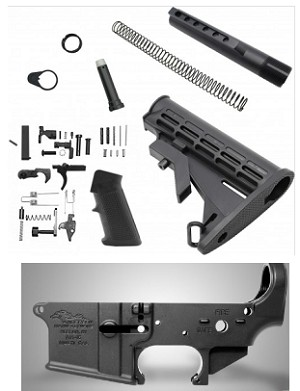 ANDERSON MANUFACTURING STRIPPED LOWER WITH LPK AND STOCK KIT