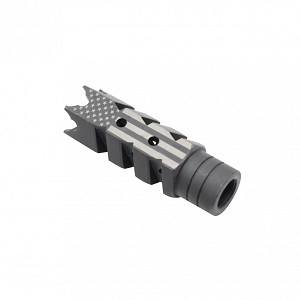 AMERICAN FLAG ENGRAVED MUZZLE BREAK 223/556