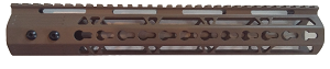 FDE New AR15 12 Inch Ultra Slim Keymod Handguards W/ Steel Barrel Nut