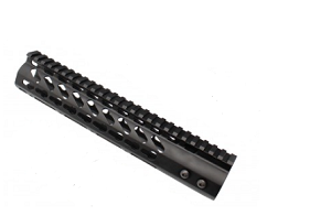 "AR-15 10"" Super Slim Keymod Free Float HandGuard 223 556 Steel Barrel Nut"