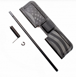 AR-10, .308 Ejection Port Cover Assembly with Flag Engraving