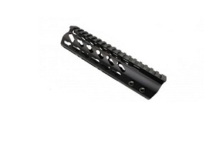 "AR-15 7"" Super Slim Keymod Free Float HandGuard 223 556 Steel Barrel Nut"