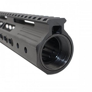 "New AR15 15"" Ultra Slim Keymod Handguard W/ Steel Barrel Nut"