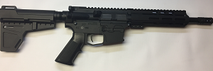 9MM PISTOL WITH MLOCK HANDGUARD AND KAK SHOCKWAVE BRACE